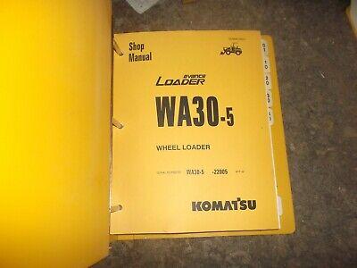 Komatsu Wa30-5 Avance Front End Wheel Loader Tractor Shop Service Repair Manual