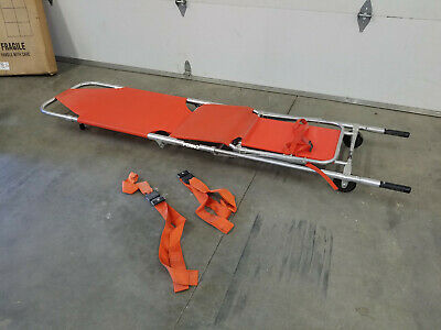 Ferno Model 107-b6 Folding Stretcher Chair Cot Gurney - Free Shipping