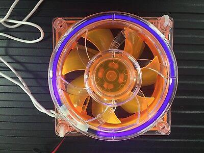 80mm Orange fan with  Cold Cathode Fan (Orange Case Fan)