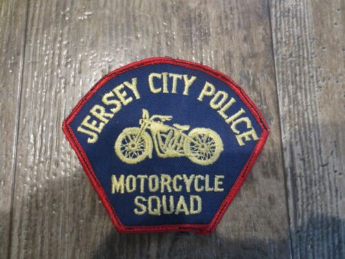Jersey City Police Motorcycle Squad Sew On Patch New Jersey