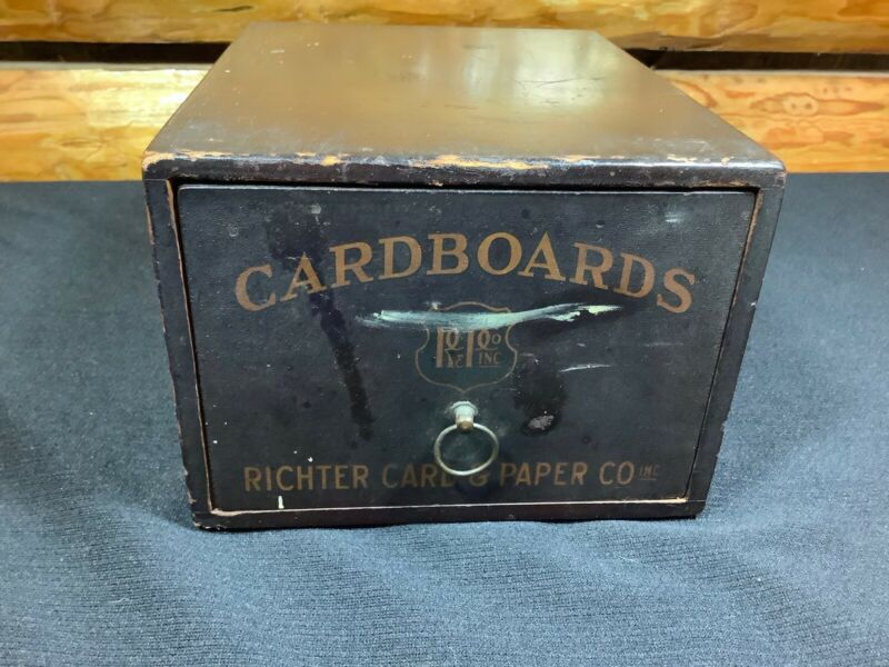 Antique Richter Card & Paper Co Cardboards Drawer RC & PC Inc