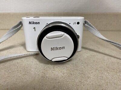 Nikon 1 J1 Camera 10-30mm Lens White Battery Rare