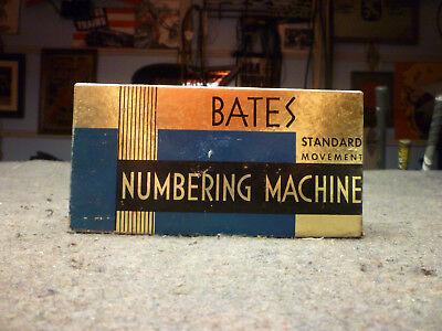 Bates Standard Movement Numbering Machine Stamp, 6 Wheels / E Style / Box etc.
