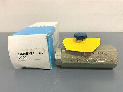 New Deltrol Pc52 10005-26 Flow Control Valve