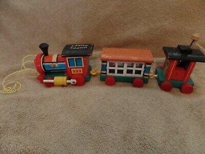 Fisher Price Vintage Wooden Train