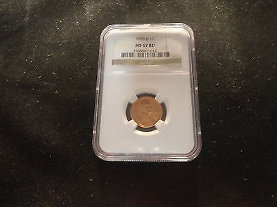 Click now to see the BUY IT NOW Price! 1956 D LINCOLN CENT NGC MS 67 RED   IN THIS GRADE HI VALUE