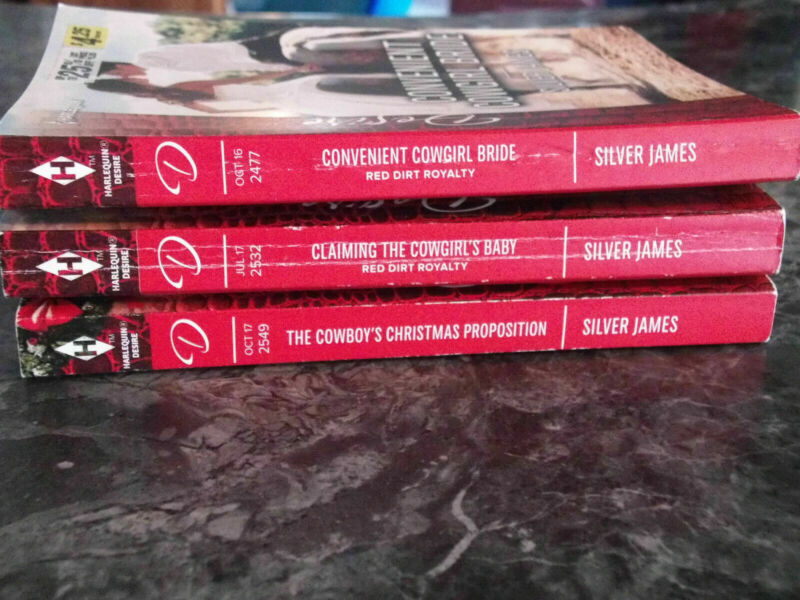 Harlequin Desire Silver James Lot of 3 contemporary romance paperback