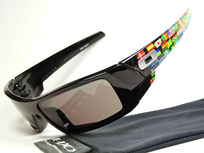 Oakley Gascan Black Global Flag Print Sonnenbrille Fuel Cell Big Taco Canteen XX