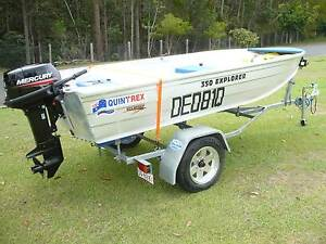 QUINTREX 350 EXPLORER, BRAND NEW 15hp MERCURY  REDCO TRAILER Cooroy Noosa Area Preview
