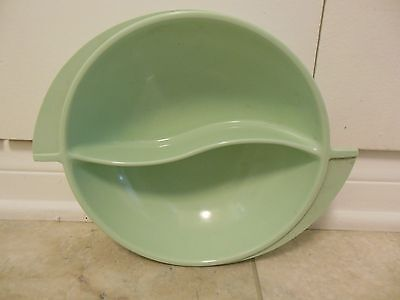 "VINTAGE MINT GREEN BOONTON ""SWIRL"" DIVIDED SERVING BOWL •MELAMINE/MELMAC •GVC!"