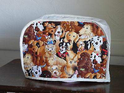 DOGS, 2 SLICE KITCHEN APPLIANCE COVER  NEW