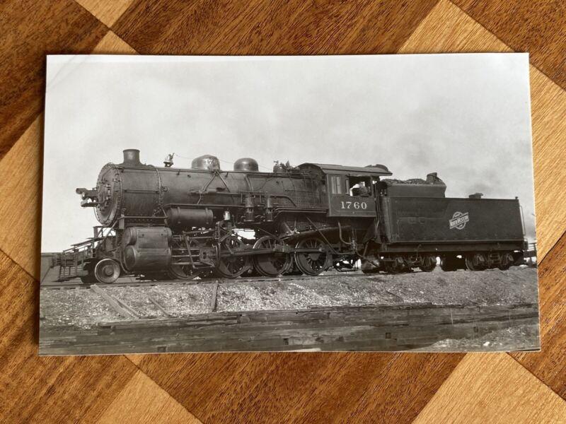 Chicago North Western Railroad Locomotive 1760 Vintage Photo C&NW