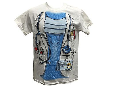 Scrubs Doctor M.D. Stethoscope Halloween Costume Cosplay Men's T shirt S-XL](Halloween Scrubs For Men)