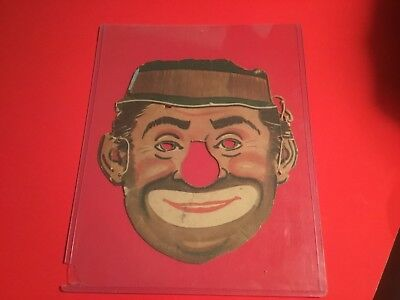 """'RARE VINTAGE HALLOWEEN 1950S PREMIUM CEREAL BOX CUT OUT """"HOBO"""" MASK  VERY RARE"""