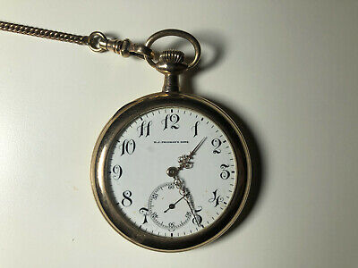 Wadsworth Pilot Mechanical Pocket Watch - GOLD! In working condition.