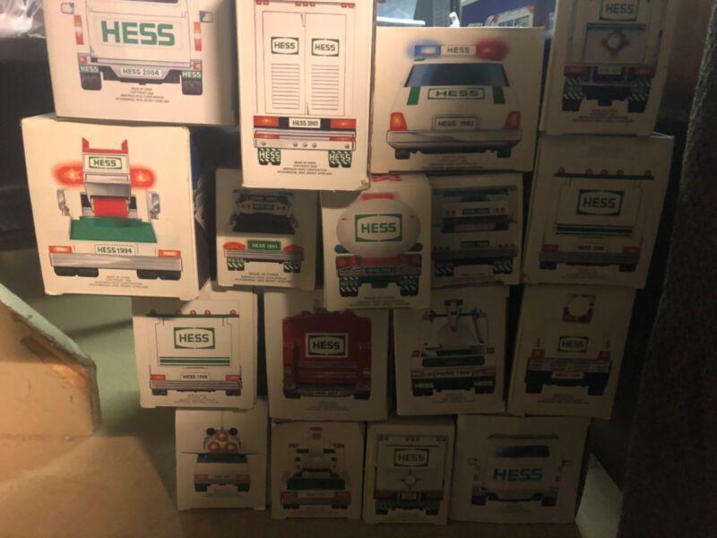 Hess trucks lot of 17 brand new Hess trucks