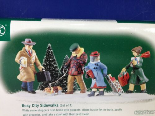 Dept 56 CIC Christmas in the City BUSY CITY SIDEWALKS 56.58955 Brand New!
