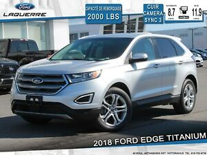 2018 Ford Edge TITANIUM**AWD*CUIR*CAMERA*APPLE CARPLAY**