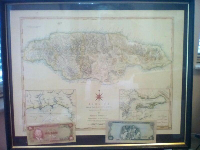 Jamaica map Chart Thomas Jeffery