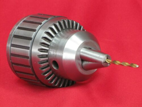 "Jacobs 18N Drill Chuck. 3/4"" Capacity. Excellent. Includes New Arbor and Key."