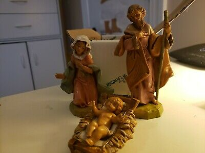 FONTANINI MARY JOSEPH BABY JESUS by ROMAN NATIVITY SCENE FIGURE HAND PAINTED SET