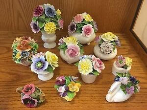 Vintage Radnor bone china flowers for sale