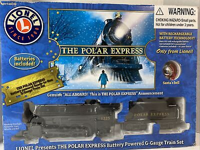 Lionel Polar Express Battery Train Set G Gauge 7-11556 Christmas Train Gondola