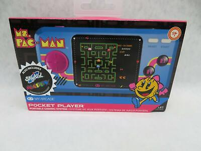 My Arcade Official Ms PAC MAN Pocket Player Handheld Retro Video Game