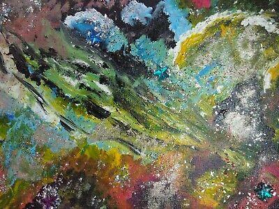 original painting glitter box canvas 12x9ins,by Ann fellows