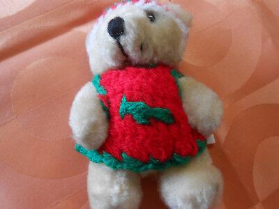 Teddybär  als Talismann mit Aufhänger 10 cm Hoch, Ideal fürs Auto guter Zustand
