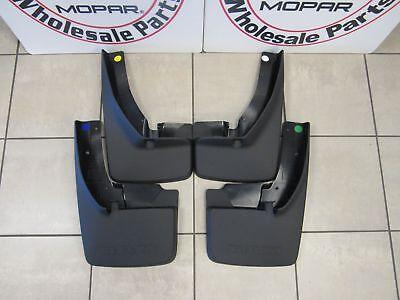 DODGE RAM 1500 2500 3500 Splash Guard Set W/ Flares Front And Rear NEW OEM MOPAR
