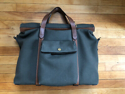 Mismo M/S Soft Work Briefcase army/cuoio Pre-owned