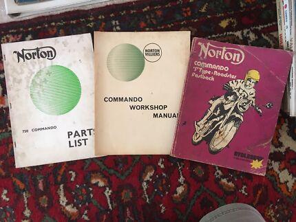 Norton Commando 750 Workshop/Spare Parts Manuals Genuine