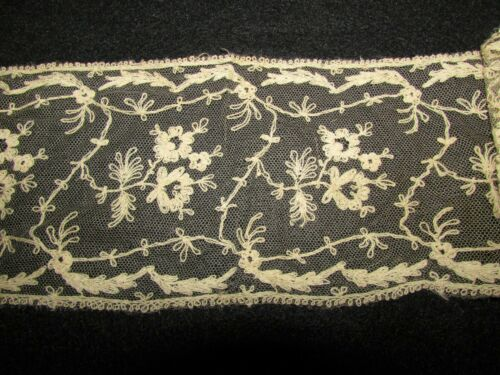 "Antique Ecru Lace Edging Trim  5"" by 20"" #13"