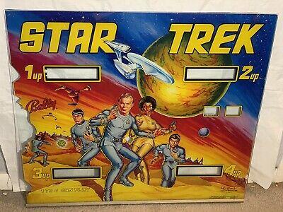 Star Trek 1979 Pinball Machine Backglass