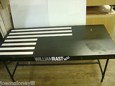 William Rast Store Fixture Black White Display Table 66x30x28