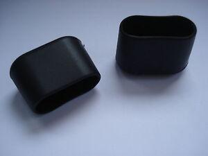lot de 8 embouts tubes enveloppants 30x15 oblong chaises bouchons noirs pvc ebay. Black Bedroom Furniture Sets. Home Design Ideas