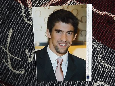 "8"" x 6"" SWIMMING PRESS AGENCY PHOTO - MICHAEL PHELPS - 2009 OMEGA FLAGSHIP OPEN"