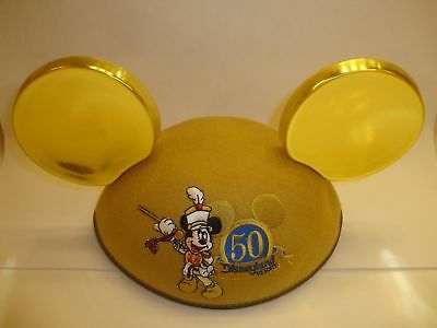 DISNEYLAND 50TH Anniversary Infant MICKEY MOUSE Ears Hat Gold,  Rare!