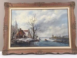 Original painting on canvas with frame