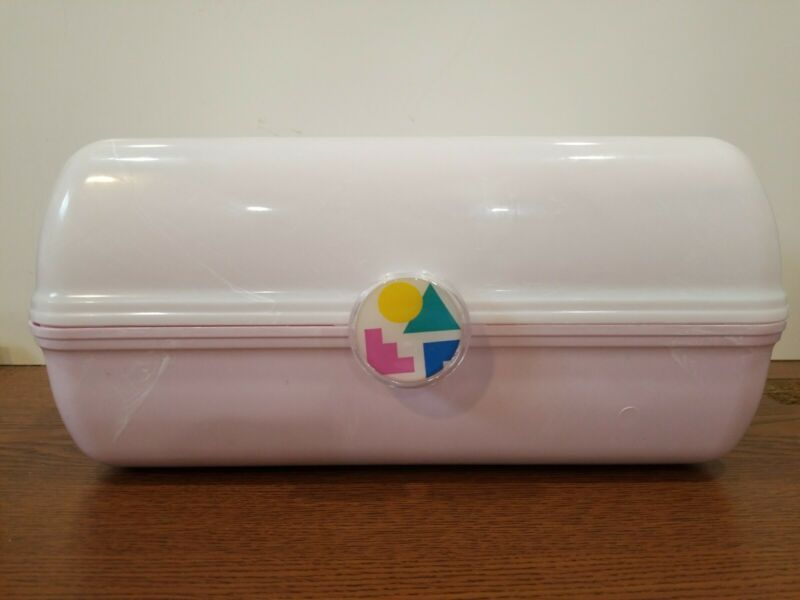 Caboodles Rare Pink White On The Go Girl Classic Cosmetic Makeup Travel Case