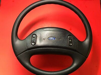 1992-1997 FORD F-250 F-350 STEERING WHEEL RUBBER CRUISE EQUIPPED USED OEM!  1997 Ford F-350 Steering