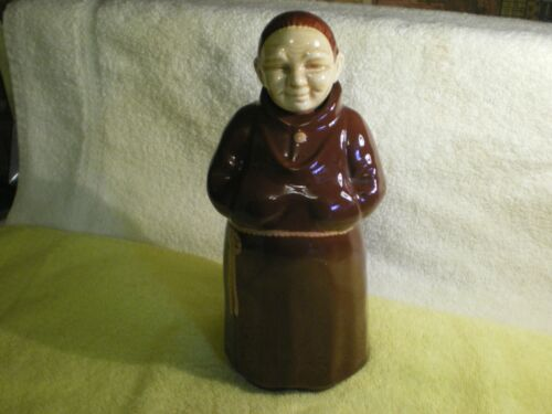 Vintage Cortendorf Painted Franciscan Monk Figure Decanter Germany c1950