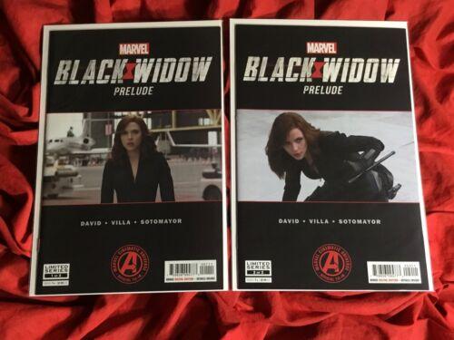 BLACK WIDOW PRELUDE #1 #2~TWO BOOK SCARLETT JOHANSSON PHOTO COVER SET~MOVIE~B