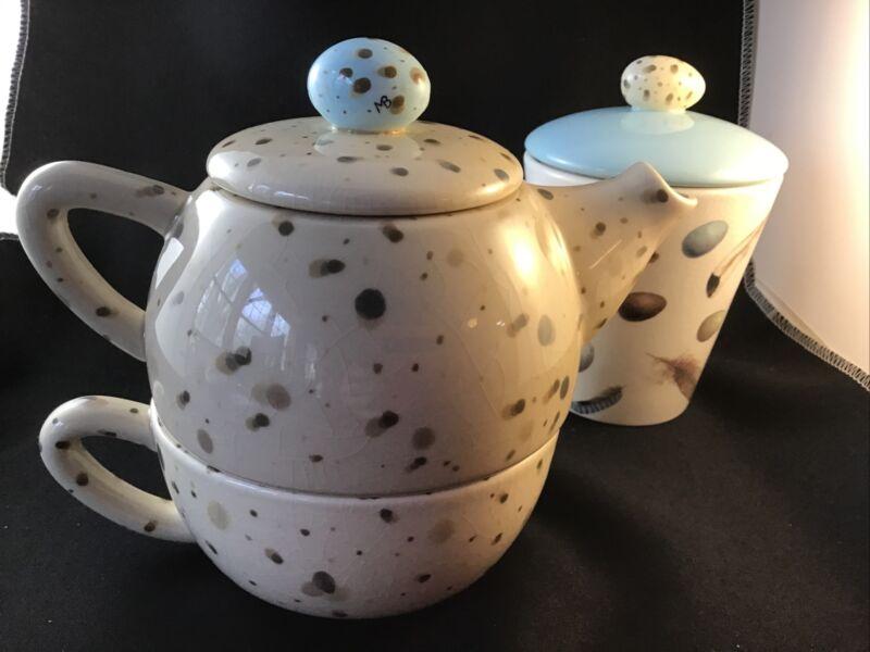 Marjolein Bastin Teapot Set And Bonus Mug Robins Egg  Hallmark