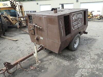 Sullair 185 Cfm Air Compressor Diesel Video Low Hours Trailer Perkins