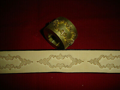 Leather Embossing Machine Roll FANCY SCROLL pattern Solid Brass