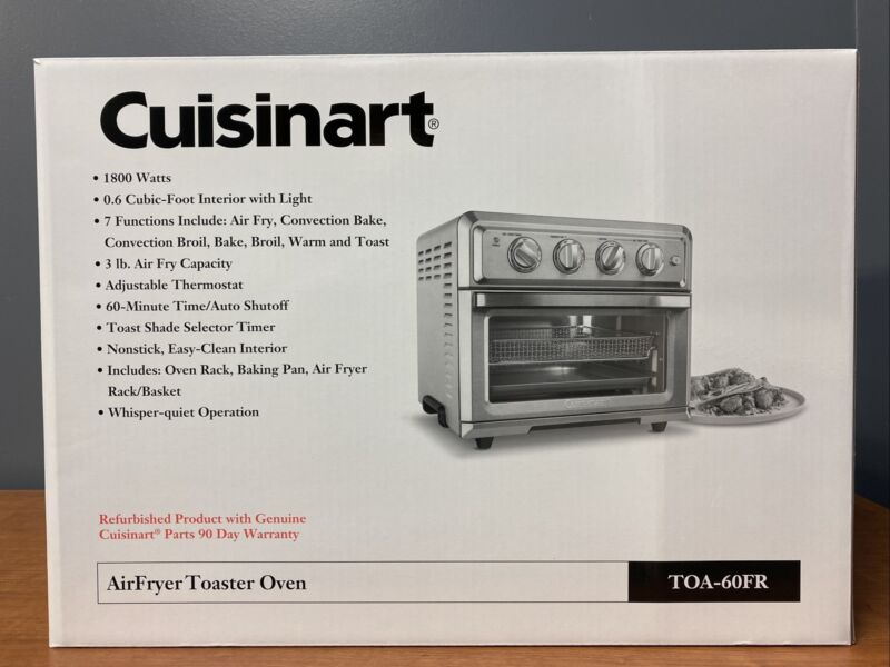 Cuisinart TOA-60FR Air Fryer Toaster Oven Stainless Steel Factory  Refurbished