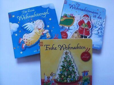 Dreierpack fröhliche Weihnachtsbücher für Kleinkinder mit
