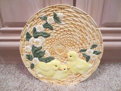 Ceramic Chicks Baby Ducklings Decorative Serving Dish Tray Plate; Kitchen Gift for sale  Shipping to Canada